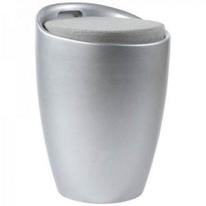 Poef 24Designs Zilver