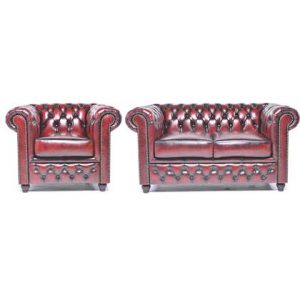 Bankstel The Chesterfield Brand Rood