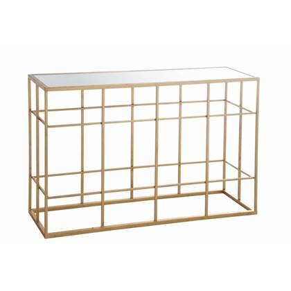 Sidetable Met Glazen Blad.Duverger Gold Sidetable Rechthoekig Wit Glazen Blad Metalen