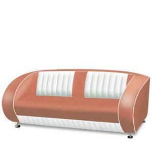 3-zitsbank Bel Air Roze